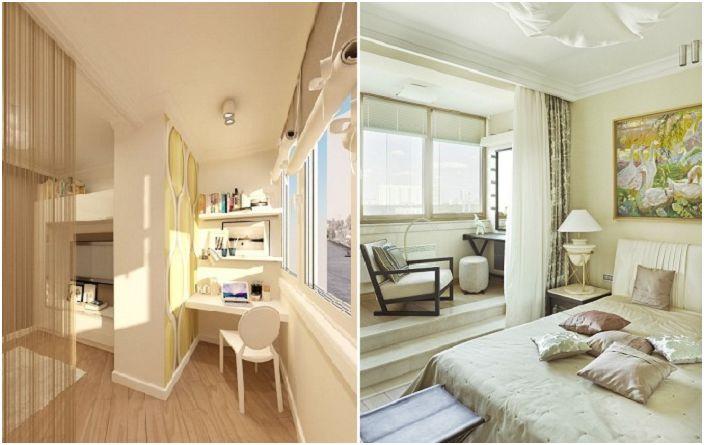 Комбинирането на стая и лоджия е чудесен вариант за разширяване на пространството.