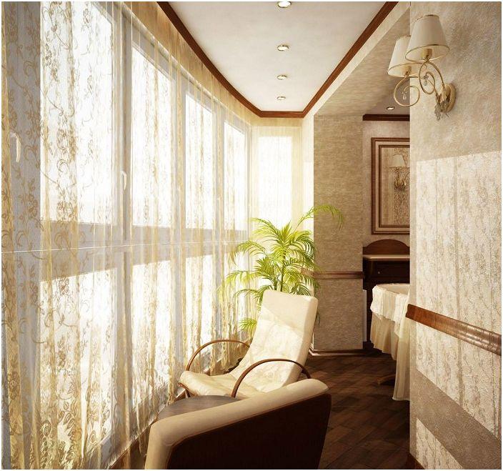 Мини стая, която се появи в резултат на комбинацията от лоджия и стая, особено за обмисляне на планове.