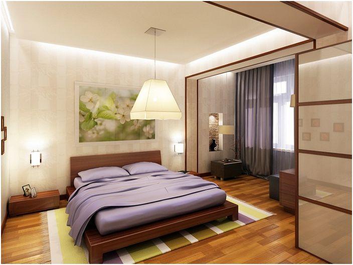 Спалня и лоджия като единно пространство.
