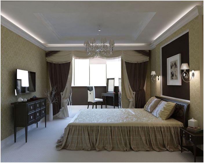 Спалнята в класически стил е получила още една малка стая.