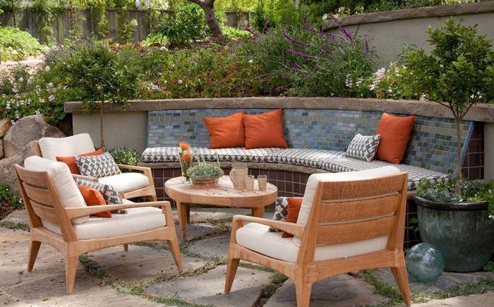 Вътрешен двор от Jessica Risko Smith Интериорен дизайн