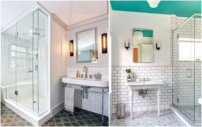 Идеи за декориране на баня с плочки.