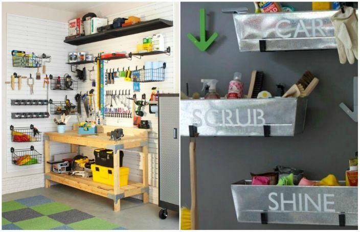 Простые идеи по организации пространства в гараже.