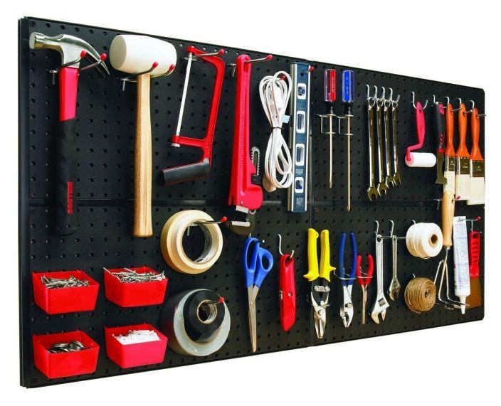 Перфорированная панель - самая простая и удобная система настенного хранения.