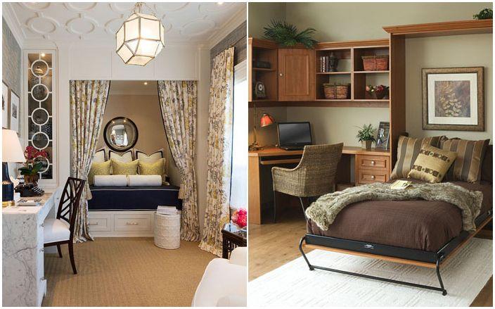 25 домашни офиса, които се превръщат в уютна спалня за гости