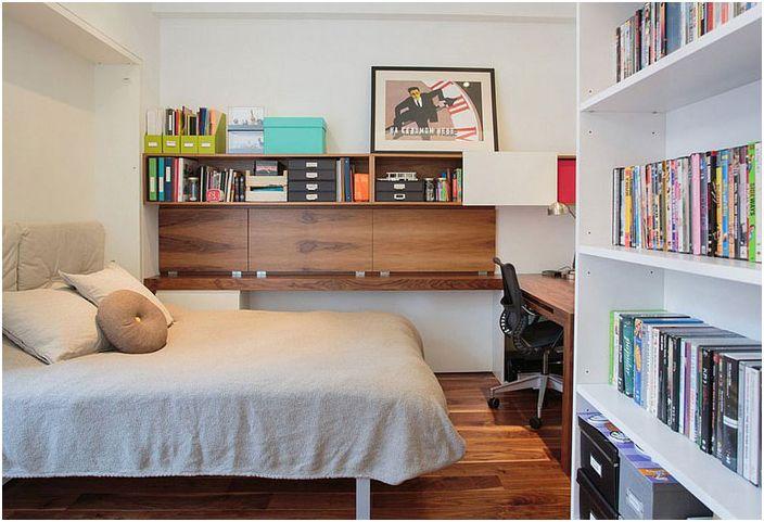 Интериор на малка офисна спалня от Студио Raad
