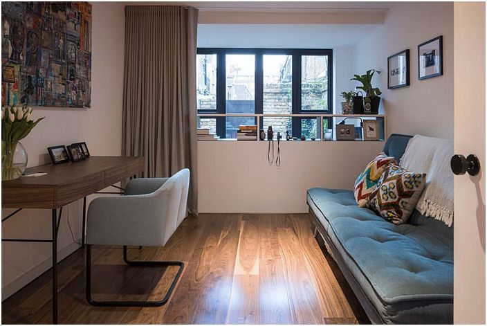 Офис-спалня в индустриален стил от Kirkwood McCarthy