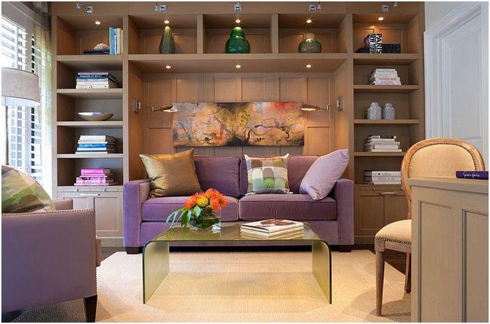 Домашен офис с диван от Cindy Ray Interiors