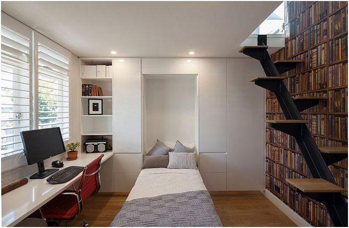Домашен офис със вградено легло от Bayview Design Group Australia