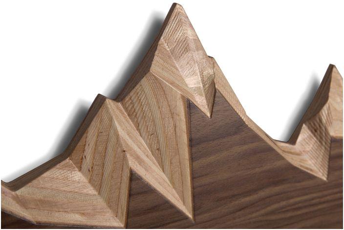 Вдъхновението за такъв прост, но същевременно креативен детайл в интериора беше снежният връх на планината