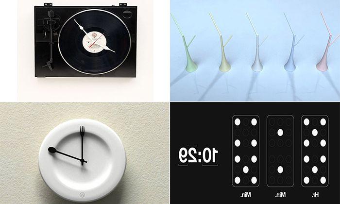 25 oryginalnych zegarów ściennych, które ozdobią każde wnętrze