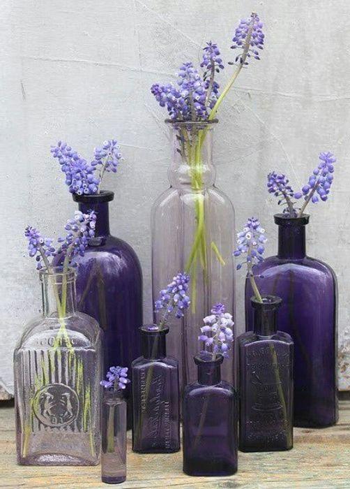 Идея номер 4: стъклени бутилки с различни форми и размери