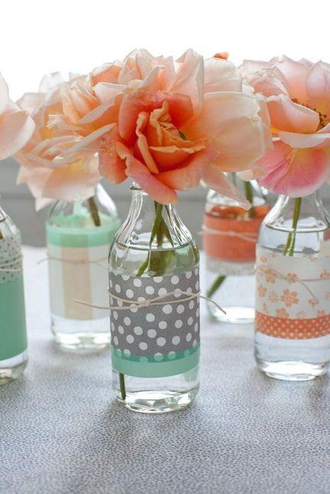 Идея № 5: прозрачни стъклени бутилки