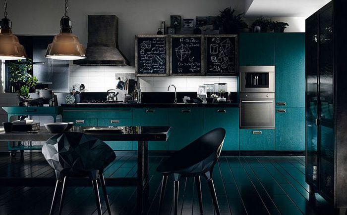 Оригиналният кухненски комплект за кухнята в индустриален стил