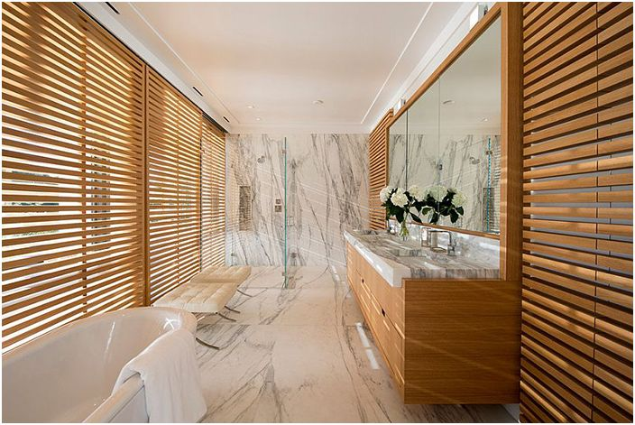 Wnętrze łazienki autorstwa Blaze Makoid Architecture