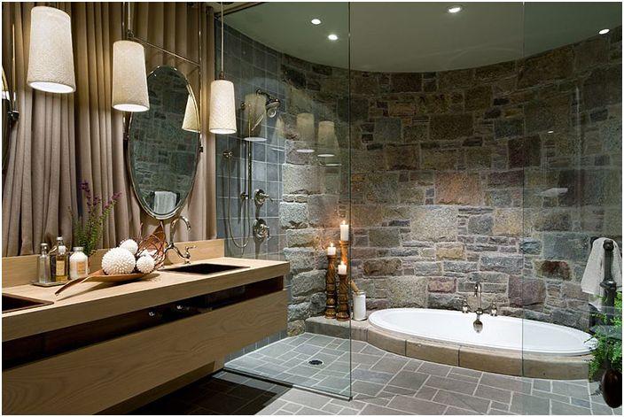 Wnętrze łazienki wykonane przez Lisa Stevens & Company