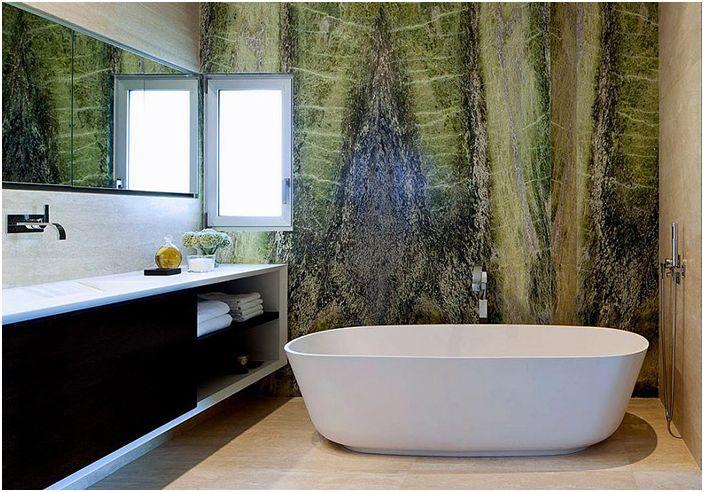 Wnętrze łazienki zaprojektowane przez architektów Domb