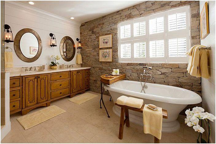 Интериор на банята чрез декориране на Den Interiors - Корпоративна централа