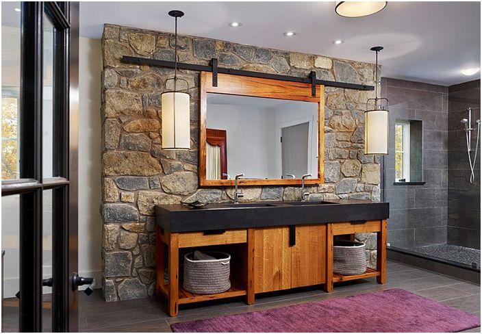 Wnętrze łazienki autorstwa Moger Mehrhof Architects