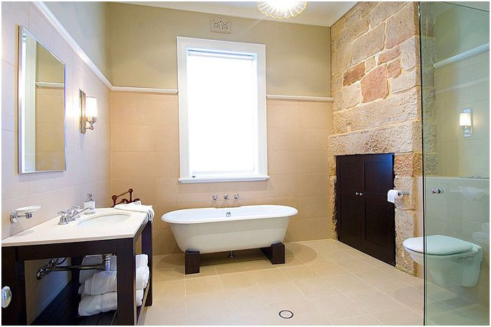 Wnętrze łazienki autorstwa architektów POC + P.