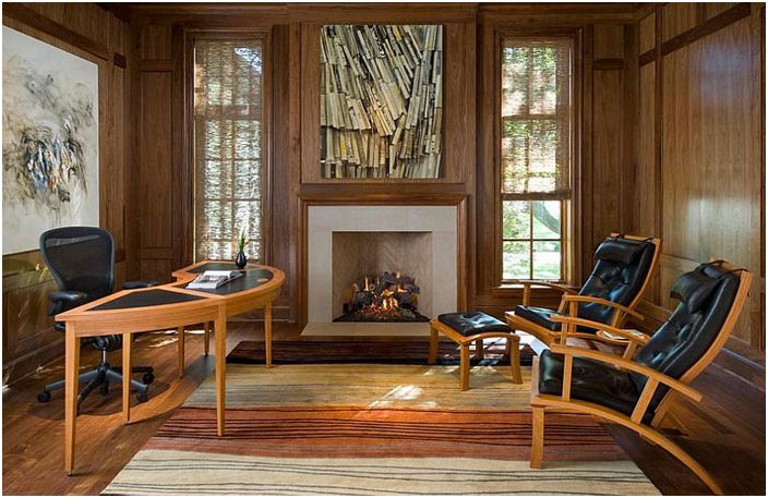 Wnętrze biura domowego autorstwa Richarda Drummond Davis Architects