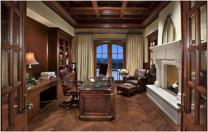 Wnętrze biura domowego autorstwa PHX Architecture