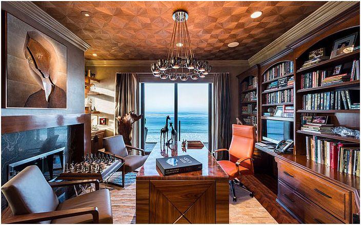 Wnętrze biura domowego od dRichards Interiors