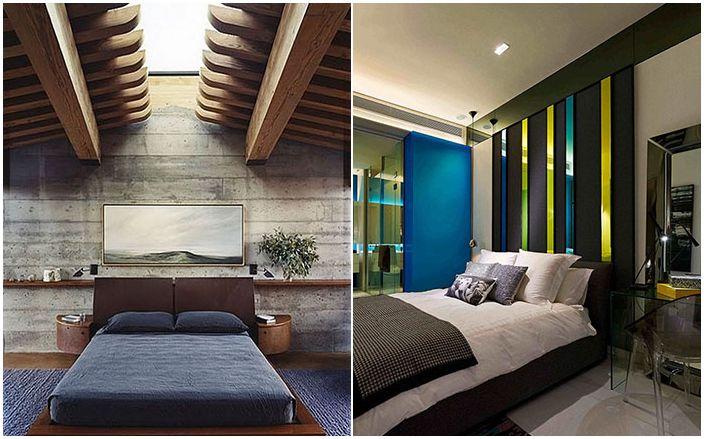 30 стилни мъжки спални от най-добрите дизайнери в света