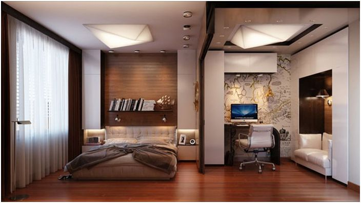 Мъжка спалня и духът на пътуване