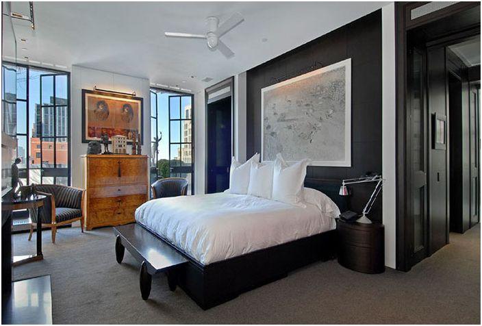 Мъжки интериор на спалнята