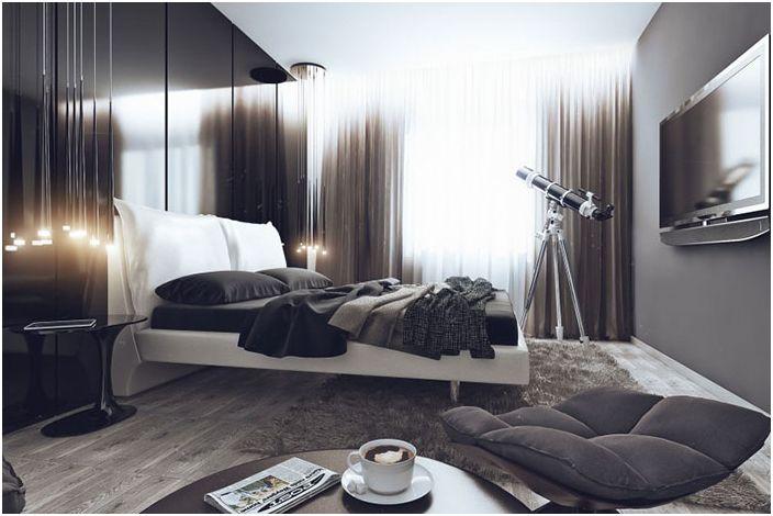Интериор на спалнята на Джеймс Ръсел
