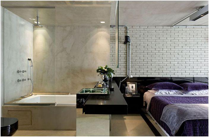 Интериор на спалнята на бразилския адвокат