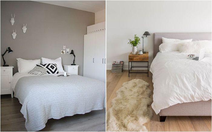 Интериор на спалнята в скандинавски стил