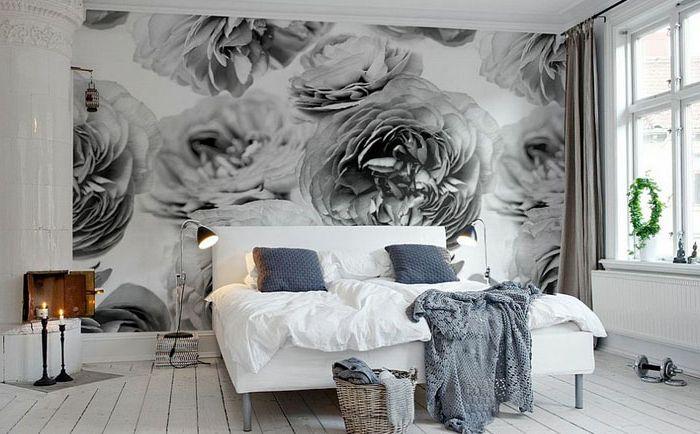 Зашеметяваща скандинавска спалня от Rebel Walls