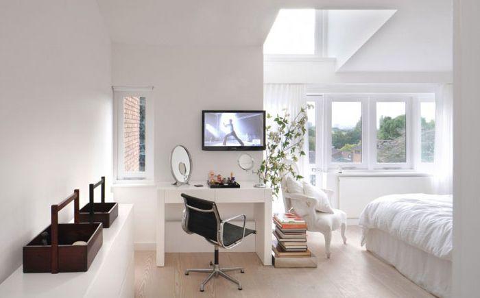 Уютна спалня с домашен офис от TG Studio