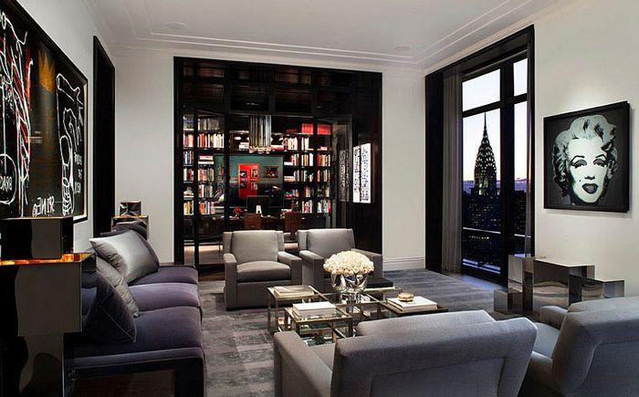 Mark Cunninghamin olohuone New Yorkin asunnossa