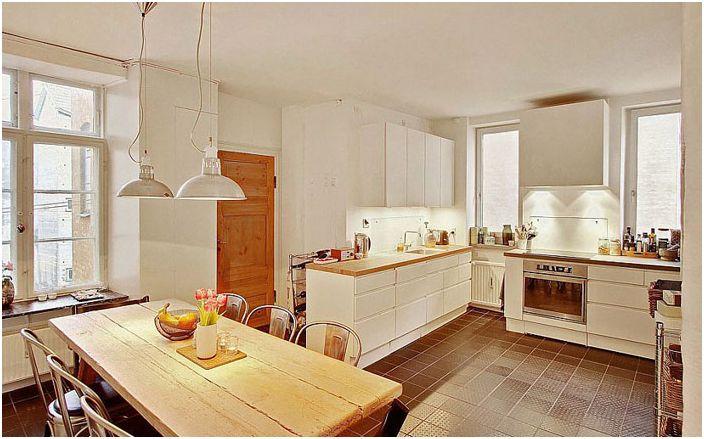 Уютна кухня в скандинавски стил