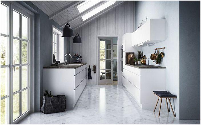Сиви нюанси в интериора на кухнята от Kvik Дания