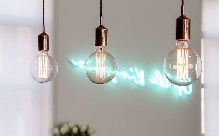 МИнималистский светильник в индустриальном стиле