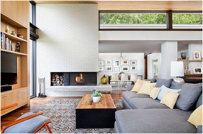 Интериор на хола от Allison Burke Interior Design
