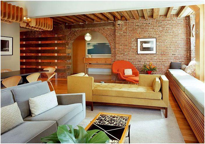 Интериор на хола от BarlisWedlick Architects, Studio Tribeca