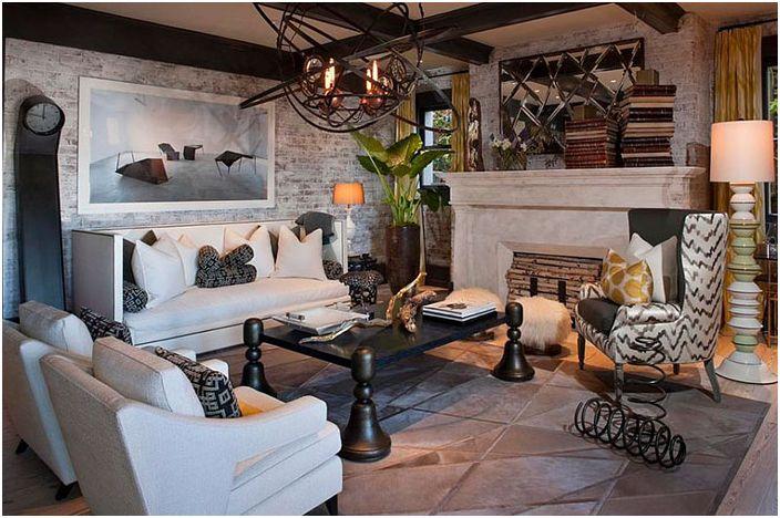 Интериор на всекидневната от Green Couch Интериорен дизайн