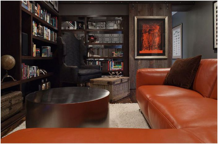 Мъжки мебели в интериора