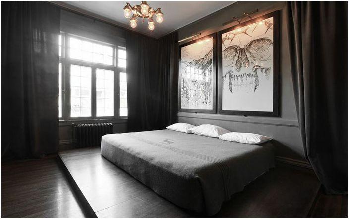 Спалня в сиви тонове