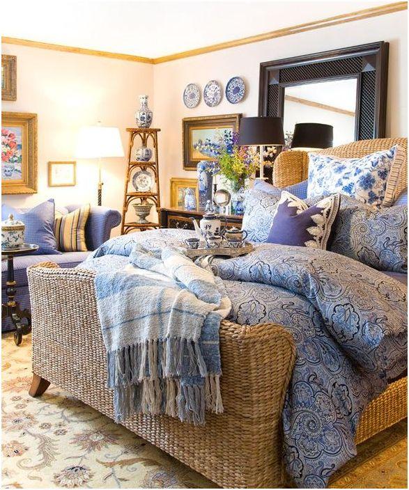 Плетено легло от ратан