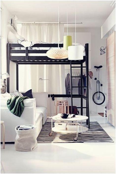 Многофункционален интериор на спалнята