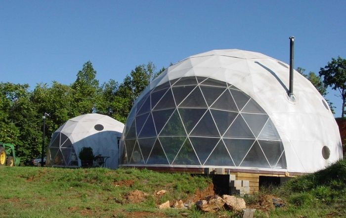 Dome houses are functional buildings.