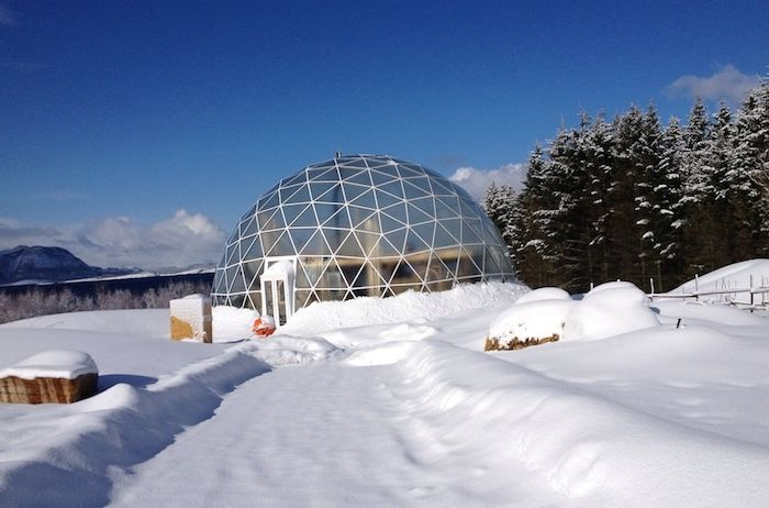 The domed house is an earthquake-resistant building.