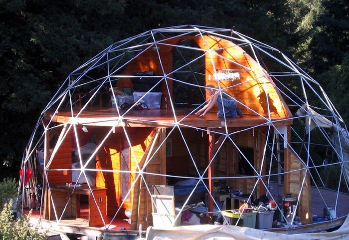 Dome house with original design.