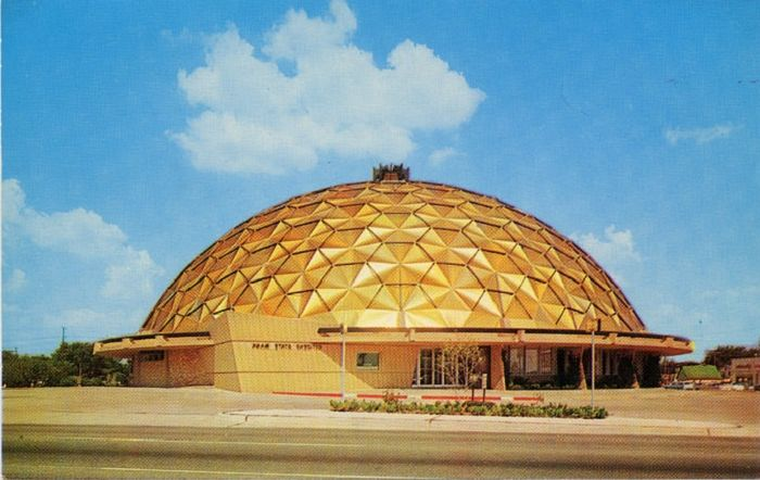 Spectacular view of the geodesic dome.